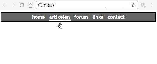 Horizontaal menu in CSS - 2