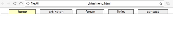 Horizontaal menu in CSS met tabbladen