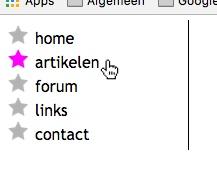 Verticaal menu in CSS met afbeeldingen