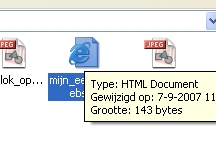 HTML bestand openen