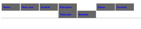 Stap 3, vorm geven van een uitklap menu met CSS