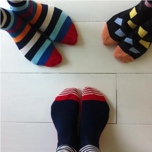 Iedereen aan de happy socks!