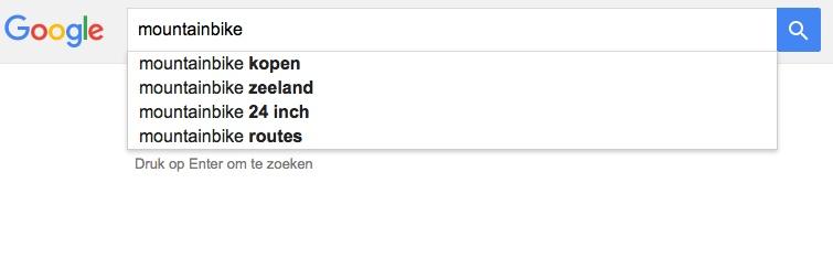 Auto-aanvullen in Google