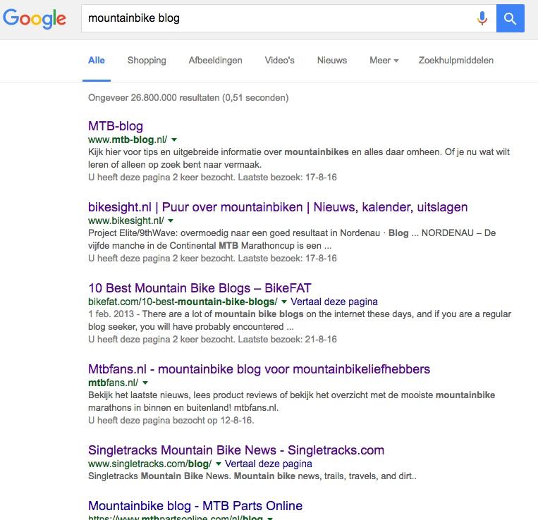Op zoek naar een blog over mountainbiken
