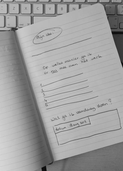 Creatief zijn, op papier zetten van je idee!