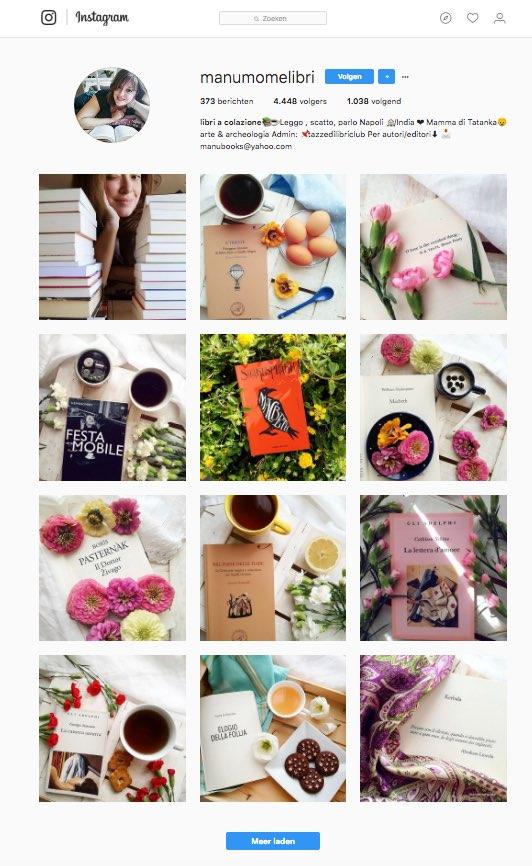 Instagram bij een boekblog