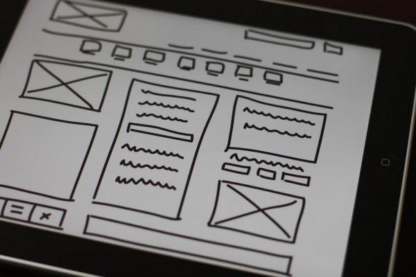 Een wireframe voor de opzet van je website