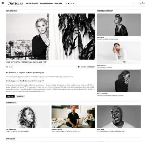 Website The-talks.com een interview website
