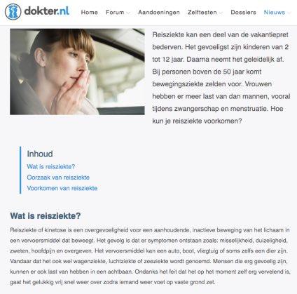 Een uitleg van dokter.nl over reisziekte