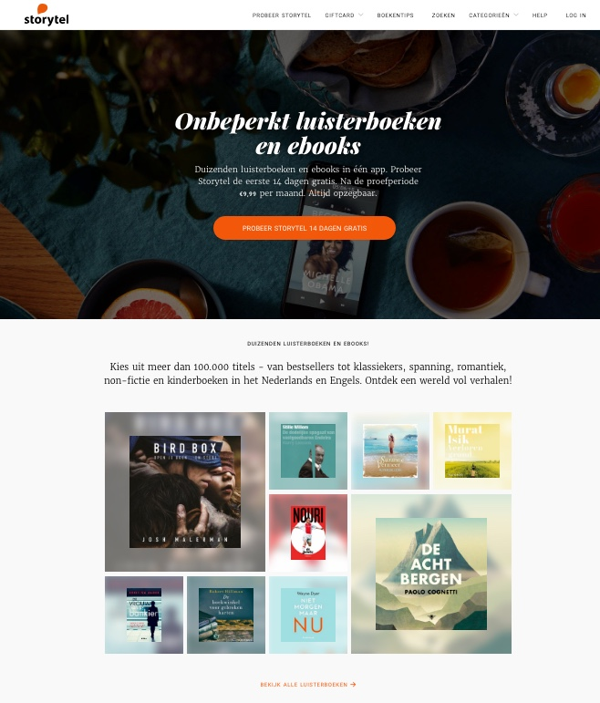 Storytel, audioboeken