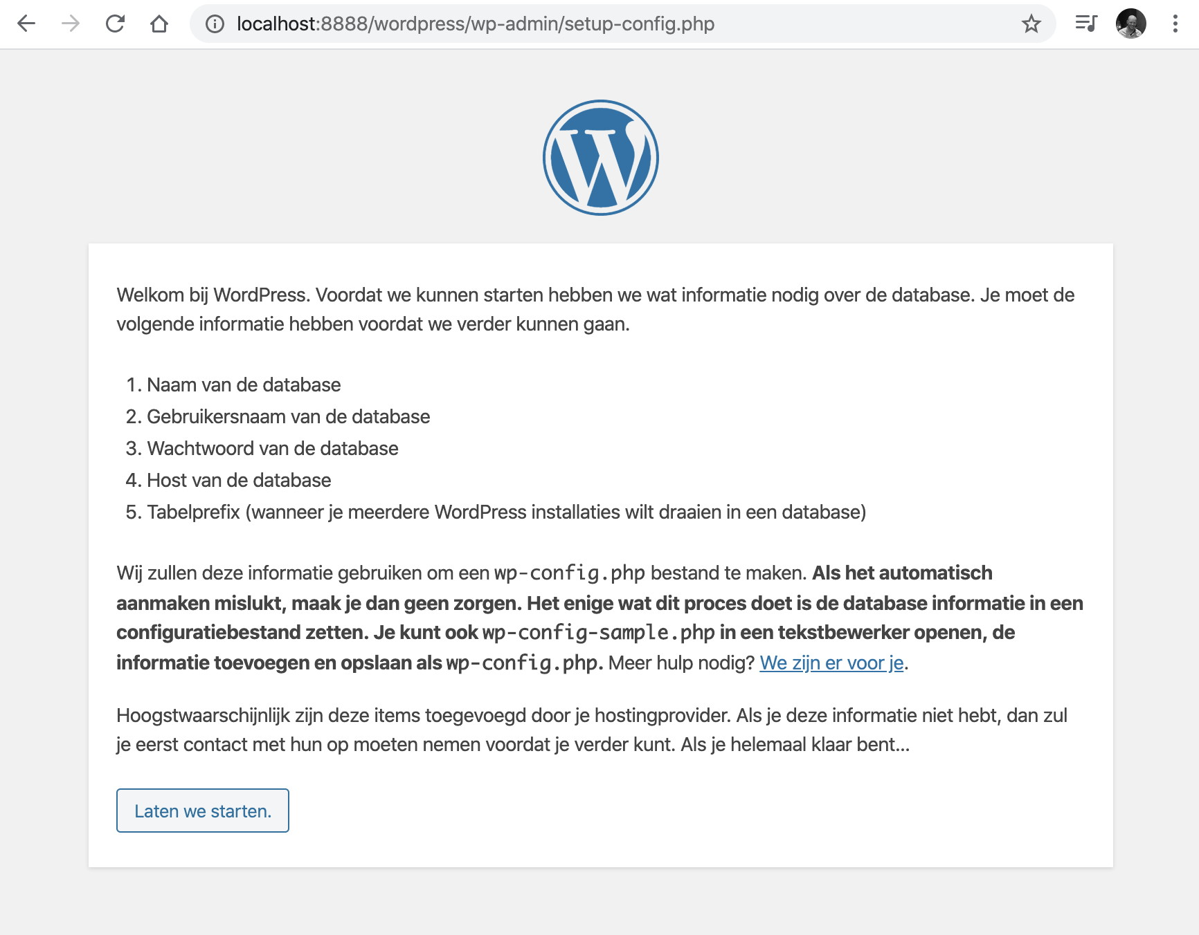 localhost:8888/wordpress