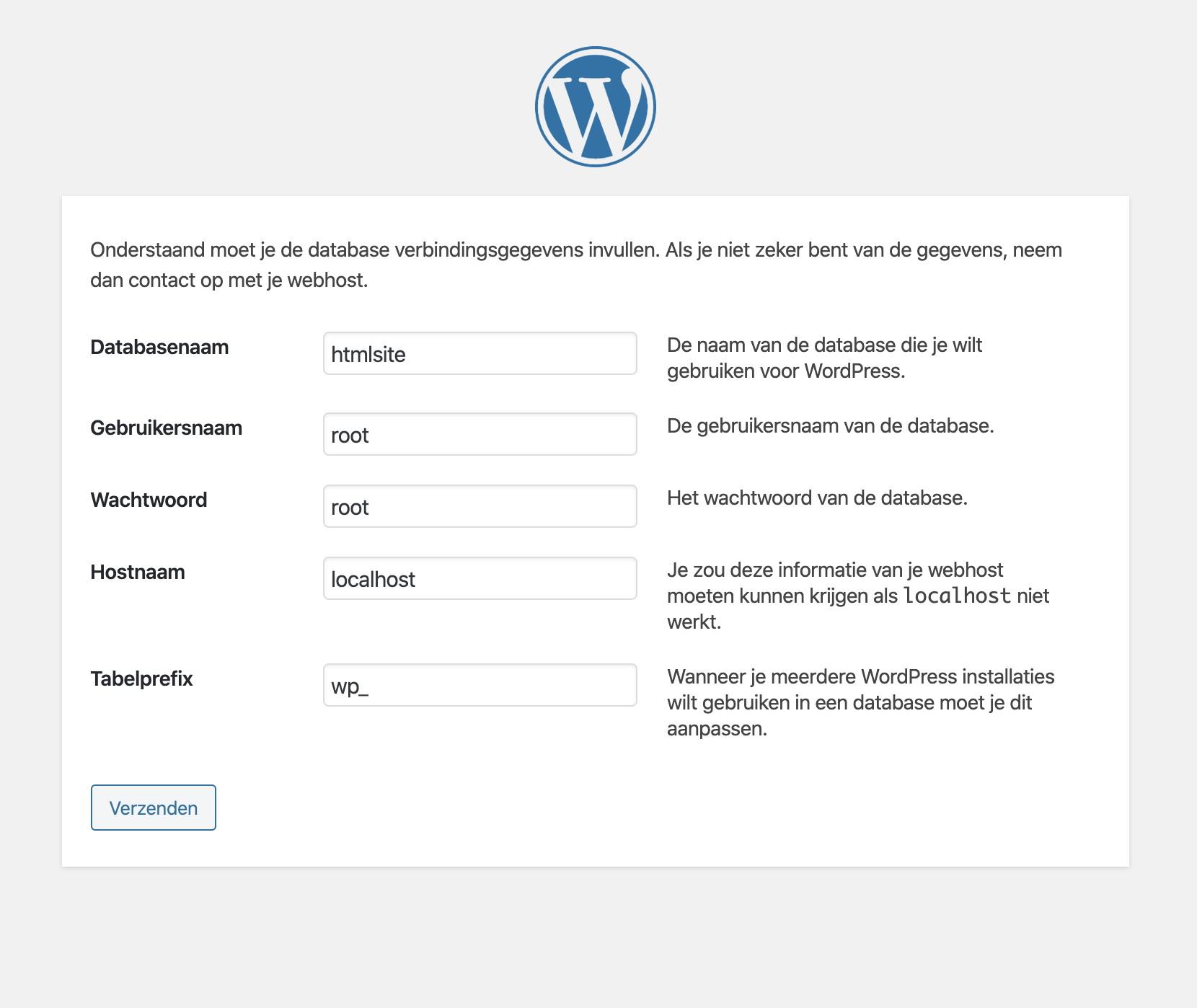Gegevens invullen in WordPress