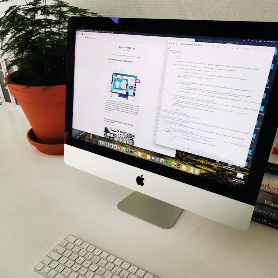 hoe maak je een website op een mac?